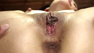 Teen Chick Is Being Tied In Flexible Position And Machine Fucked