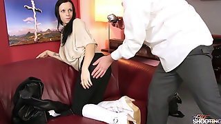 Black Hair Student Dont Even Unclothe And Drill Enormous Agents Cock
