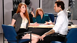 Awesome Hard Sex In The Office With Gwen Stark And Darla Crane