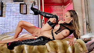 Cherie DeVille In Sexy Boots Gets Her Ass Drilled By Scott Nails