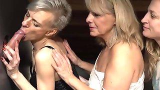 Triple Blonde Granny Orgy - Big Tits