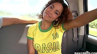 Sizzling Brazilian Babe Likes It Big And Hard