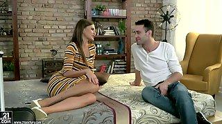 Seductive Babe Tina Kay Provides Her Man With Beautiful Deepthroat Blowjob