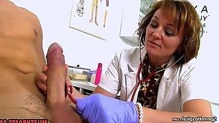 Hot Mature Doctor Handjob And Jizz