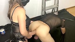 Strapon Session With Phat Fake Penis Mr Hankey XXXCALIBUR And Demolished Orgasm