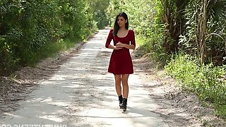 Pretty Girl In A Tight Dress Submits To Bondage And Fucking