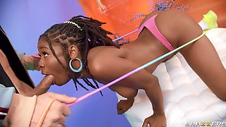 Lad Gags Ebony Teen And Fucks Her Pussy Big Time
