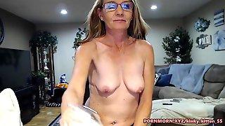 Cute Saggy Boobs Granny On Cam