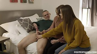 Jerking Cock If Fun For Naked Girls But Fucking Doggy Rough Is Better