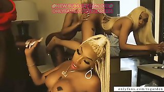 Three Thick Black TS Barbies Have Trio With DL Trap Niggas - OF NEVERSEEN