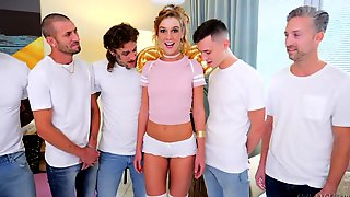 Cum-thirsty Hooker Alexis Crystal Gets Facial After Hardcore Gangbang Scene
