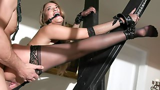 Cum In Mouth After Hardcore Fucking With Tied Up Gizelle Blanco