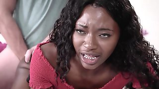 Ebony Teen Tries Anal For The First Time With Her BF