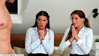 Hardcore Anal FFM Threesome With Eveline Dellai And Silvia Dellai