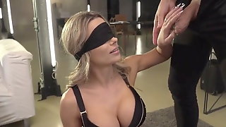 Double Penetration In The Blind With Anal And Blowjob