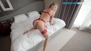 Passionate Sex With A Top Escort Slut In A Hotel In Red Lingerie