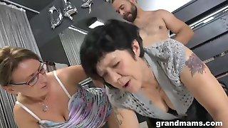 Grandmas Threesome Part 4 - Blowjob