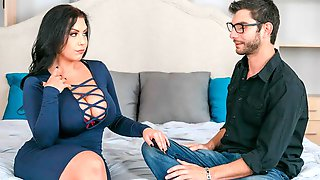 Curvy Sheridan Love Fucking In The Bedroom With Her Big Tits