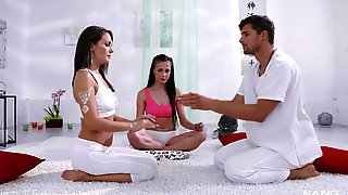 Erotic FFM Threesome With Sexy Dominica Phoenix And Nicole Love