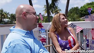 Horny Stepsis Pounded During 4th Of July Party