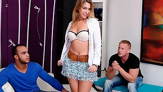 Beautiful Hottie With Huge Tits Ani Black Fox Rides On A Long Penis