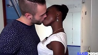 Jaina Youthful And Gorgeous Ebony Craves To Come Into The Porn World