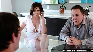 Oversexed Mom Yasmin Scott Fucks Her Grownup Stepson Under Husbands Nose