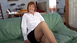 Milf Over 60 Fucks A Young Cock And Licks His Butt