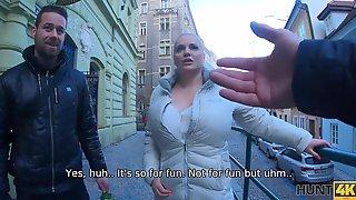HUNT4K. Voluptuous Hottie Decides To Fuck For Cash But Not A Bouquet - Amateur