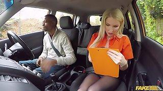 Driving Exam Gets An Unexpected Interracial Ending