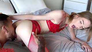 Tgirl In Red Fucked