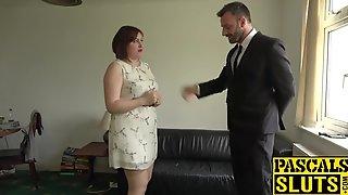 Fat Compliant British Woman Has A Coarse Bang Session