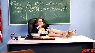 Hot Teacher Gets Off To BBC (IR GB)