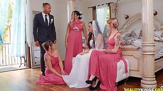 Couple, Heels, Dogging, Brunette, Bride