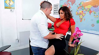 Lusty Curly-haired Lady Nikki Capone Fucked In The Missionary Pose