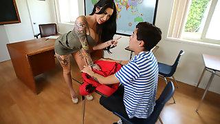 BrokenBabes - Naughty Boy Gets Dismissed By Hot MILF Teacher Lily Lane