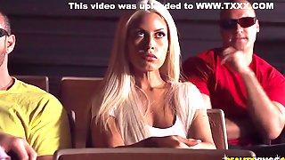 Sean Lawless And Bridgette B - Seduces Busty Blonde In The Cinema