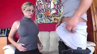 Young Man Has Group Oral Act With Older Woman And Stepdaughter
