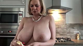 Annabel's Friday Afternoon Fruity Sticky Big Tit Play With Huge Boobs