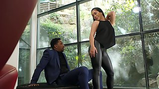 Hairy Chick Ginebra Bellucci Gets Fucked In The Ass By A Black Man