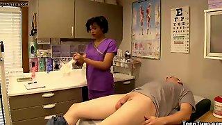 Sexy Nurse Cum Extraction