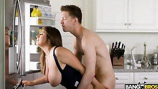 Mega Busty Babes Angela White And Ella Knox Share One Big Dick