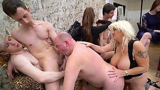 Jarushka Ross And Elizabeth Nero Enjoying In Group Activity