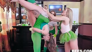 Orgy, Funny, Foursome, Blonde, Blowjob