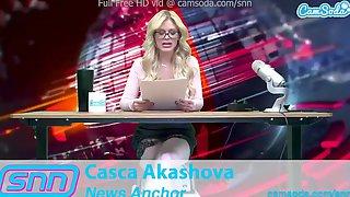 SNN News Anchor Mother Id Like To Fuck Casca Akashova Masturbates On Air
