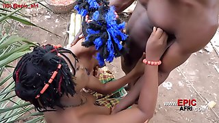 Ebony Lesbians Try Out Big Black Dick For The First Time