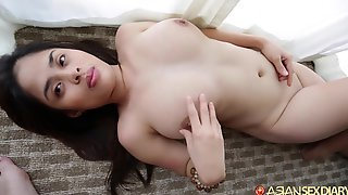 Busty Filipina Shoves Big Dick In Her Tight Pussy