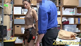 Officer Gets A Nice Petite Horny Teen