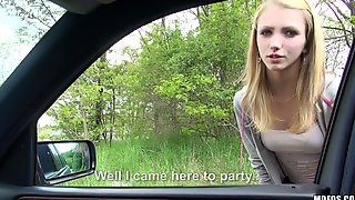Beatrix Glower In A Naughty Car Banging Outdoor Doggystyle