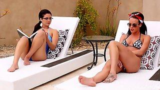 Ass Licking, Outdoor, Glasses, Lesbian, Bikini